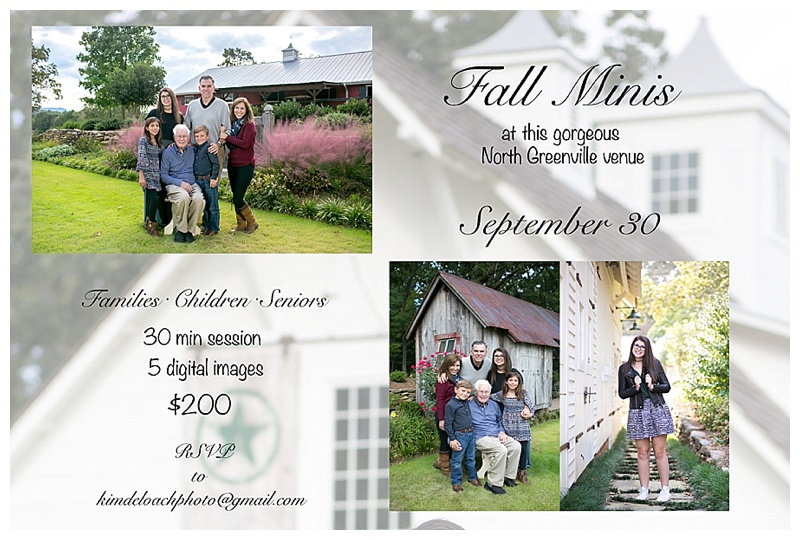 September 30 Mini Sessions